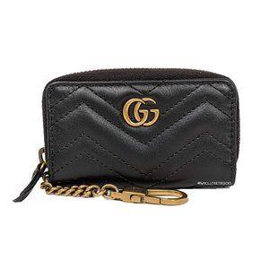 Gucci Black GG Marmont Key Case